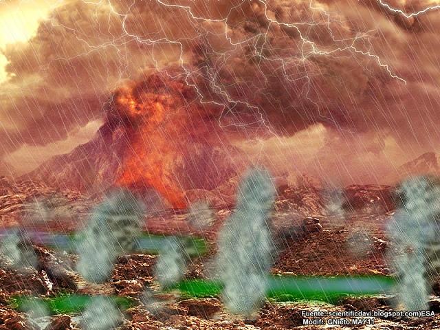 A principal diferença entre esta atmosfera primitiva e a atmosfera atual,  reside no fato de